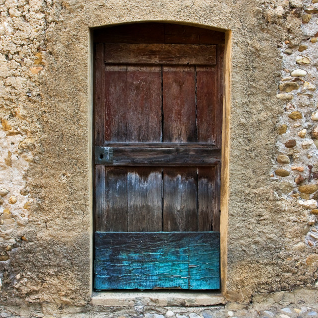 """""""Textures - Wall with Painted Door"""" stock image"""