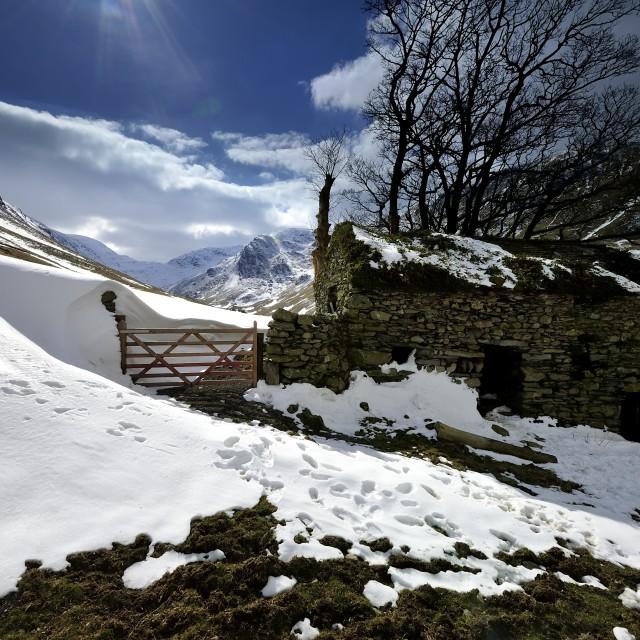 """Snow Drifts"" stock image"