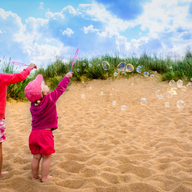 """""""Bubbles in the Wind"""" stock image"""