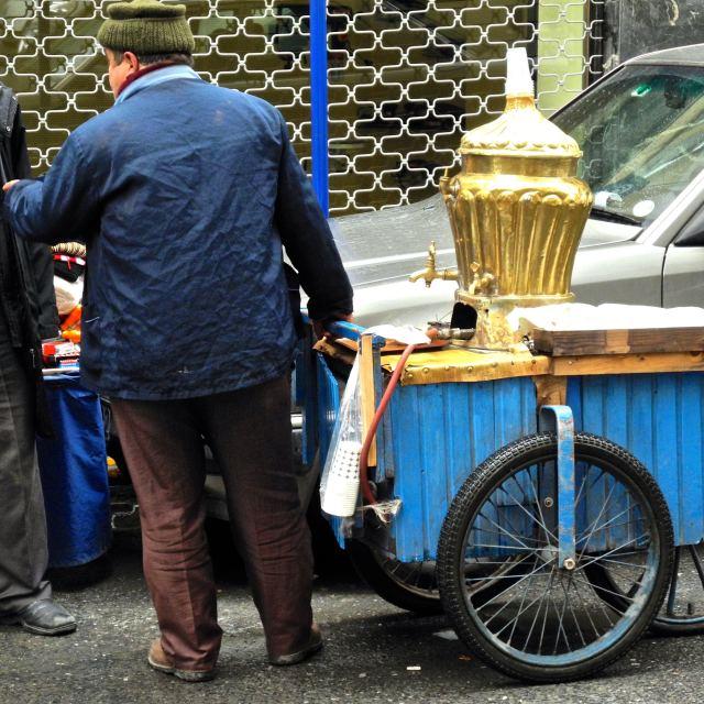 """Street vendor of tea in Istanbul"" stock image"