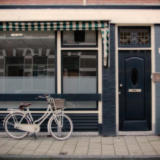"""Along a Dutch street"" stock image"