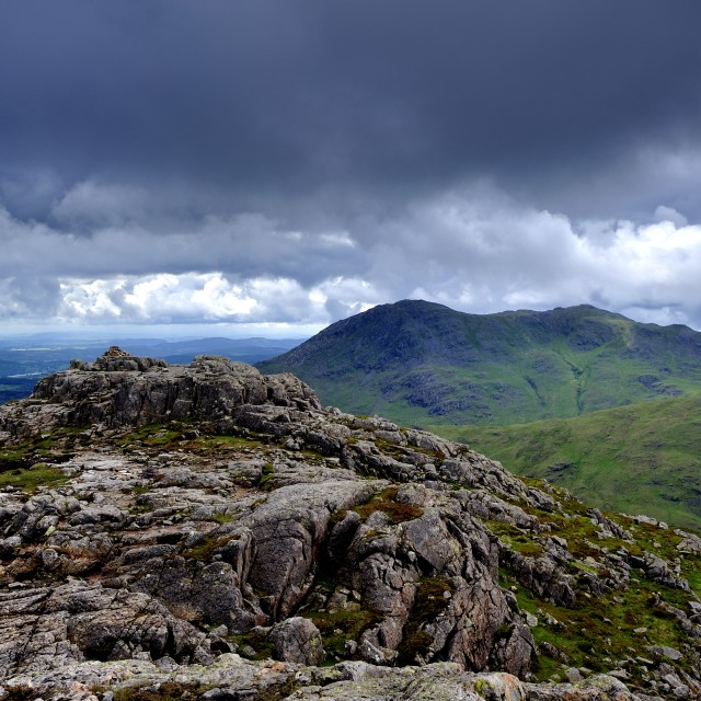"""""""Storm Clouds over Coniston"""" stock image"""