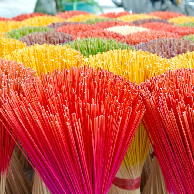 """Vibrant Incense Sticks"" stock image"