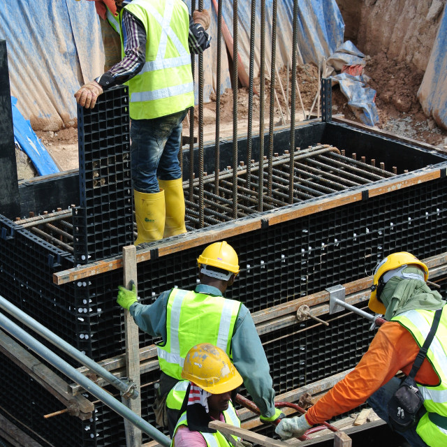 """""""Construction workers"""" stock image"""