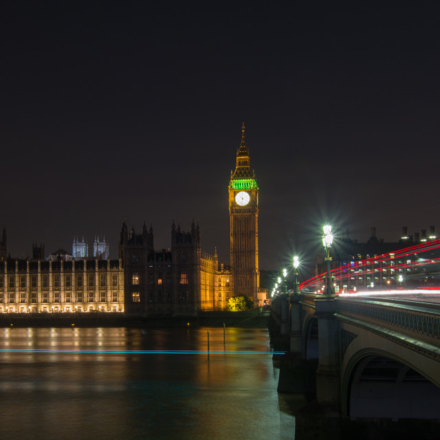 """Big Ben, Westminster Bridge"" stock image"