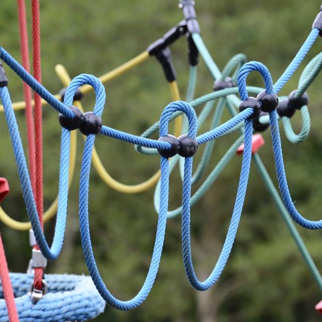 """Rope Climbing"" stock image"