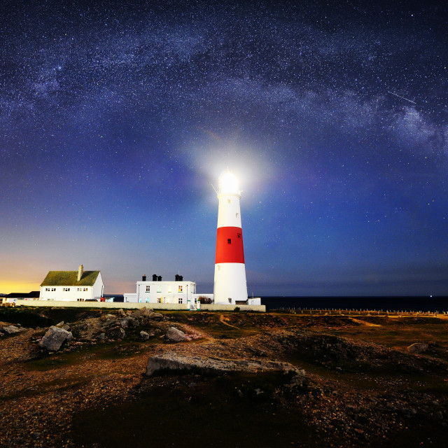 """Portland Bill Lighthouse"" stock image"