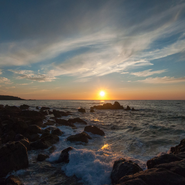 """St Ives Sunset"" stock image"