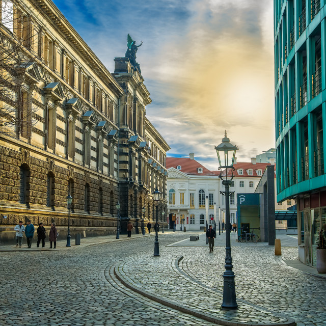 """Dresden street"" stock image"