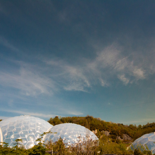 """""""Eden Project Cornwall"""" stock image"""