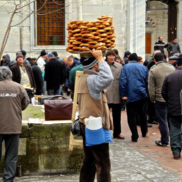 """""""Peddler donuts in Istanbul"""" stock image"""