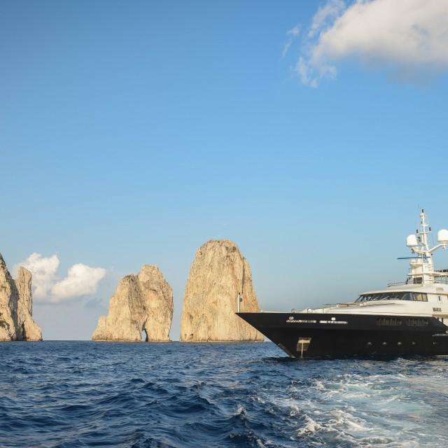 """""""Yacht in Capri"""" stock image"""