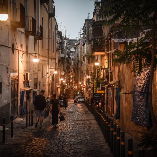 """""""Naples street"""" stock image"""