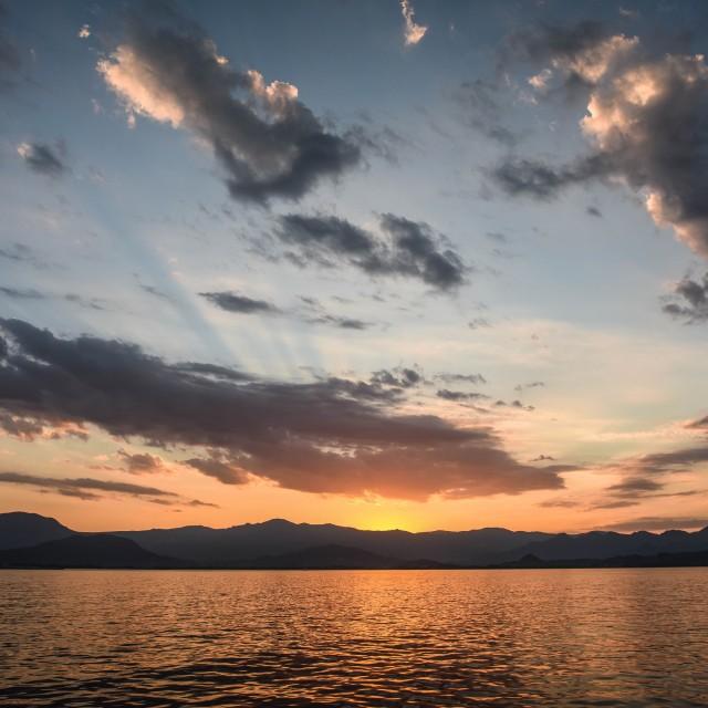 """""""Sunset at Sardinia"""" stock image"""