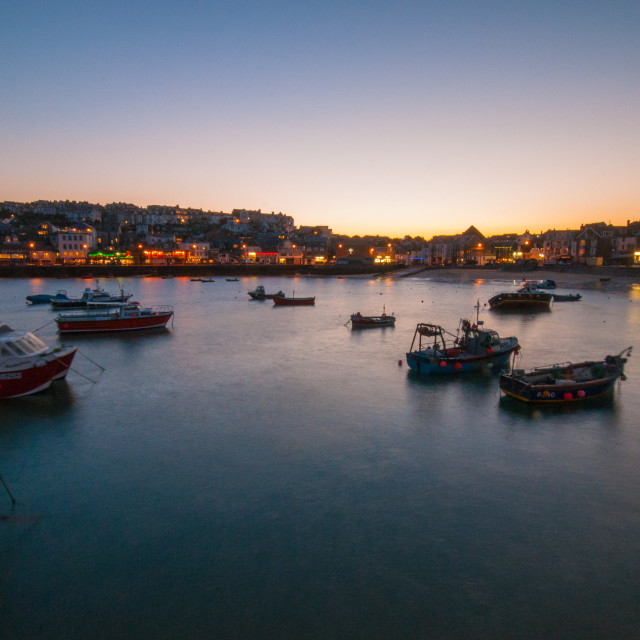 """St Ives Harbor"" stock image"