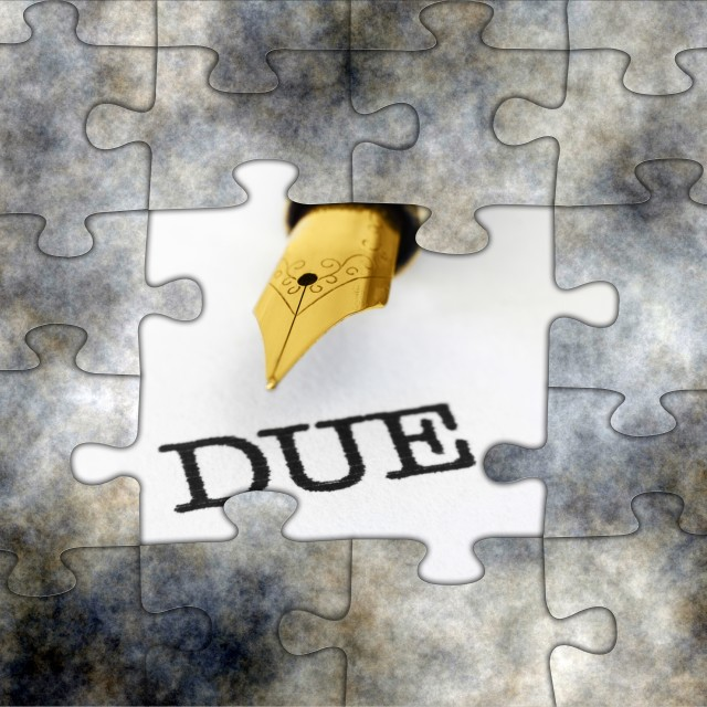 """Due puzzle concept"" stock image"