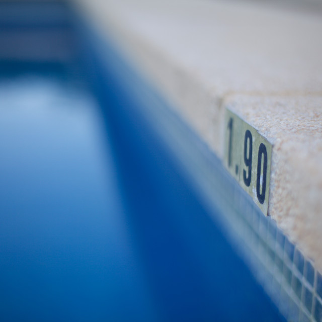 """1.90 Swimming Pool"" stock image"