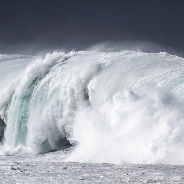 """Huge Ocean Wave"" stock image"