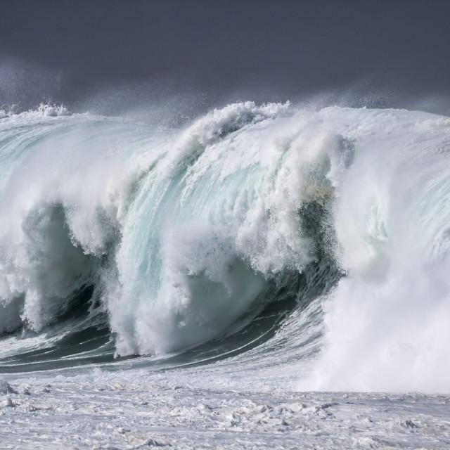 """Giant Ocean Wave"" stock image"