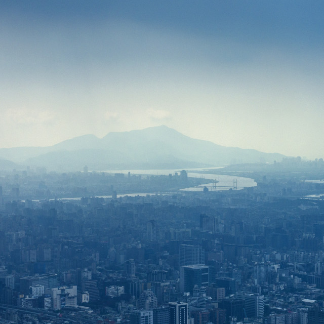 """View of Taipei"" stock image"