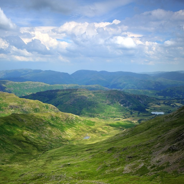 """""""The Little Langdale Valley"""" stock image"""