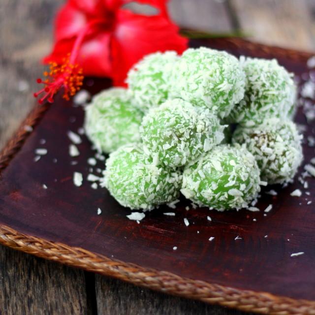 """Onde Onde -Malaysian Dessert"" stock image"