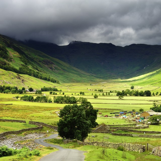 """""""Langdale Dale Valley"""" stock image"""