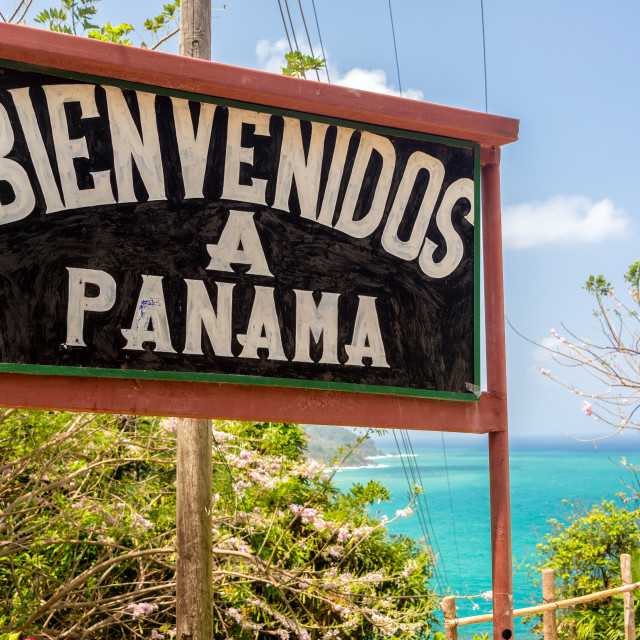 """Welcome to Panama"" stock image"