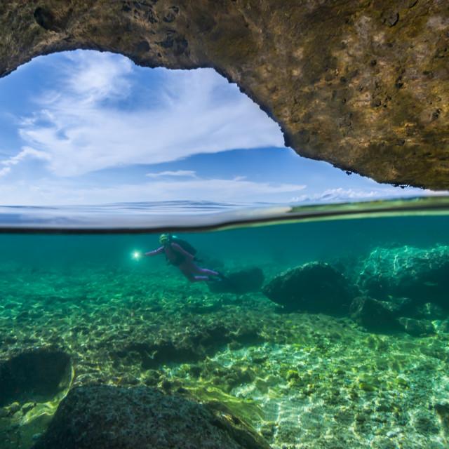 """""""Underwater cave"""" stock image"""