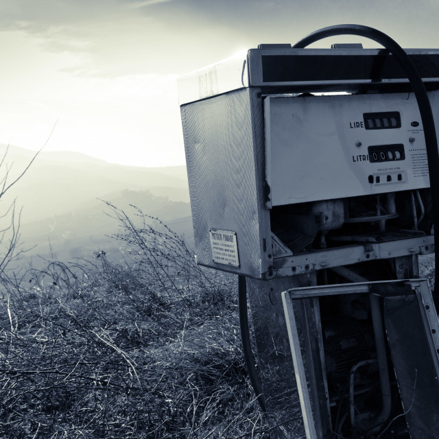 """abandoned fuel pump"" stock image"