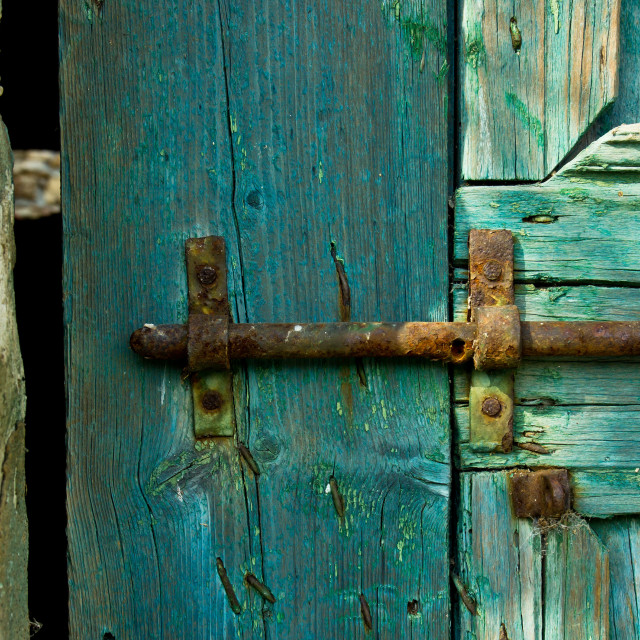 """""""old door and bolt"""" stock image"""