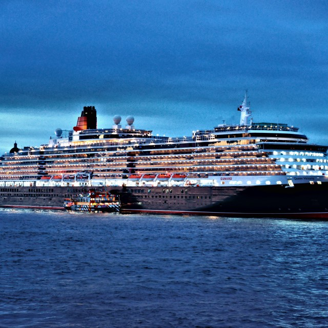 """Cunard Queen Victoria"" stock image"