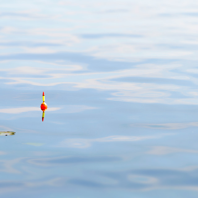 """Fishing Floats in Blue Water"" stock image"