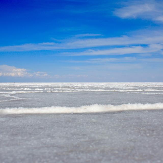 """Salar de Uyuni salt Flats in Bolivia"" stock image"