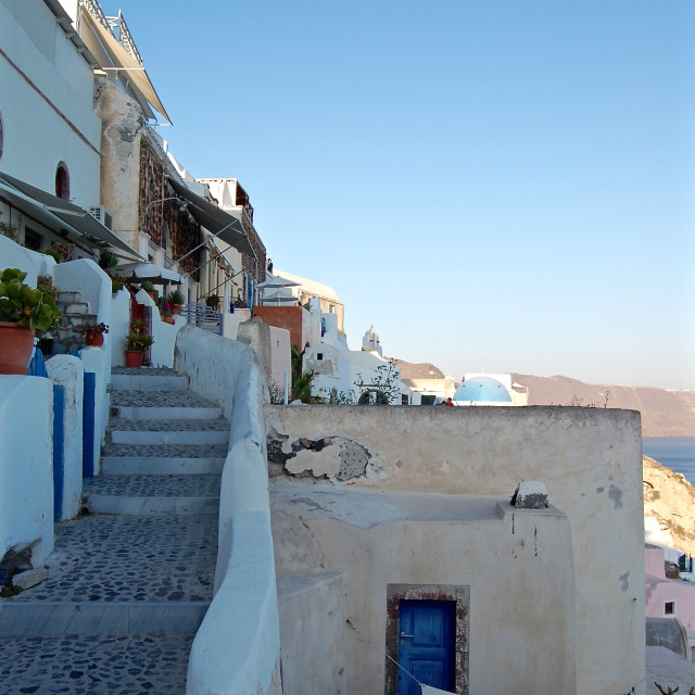 """Town of Oia, Santorini, Greece."" stock image"