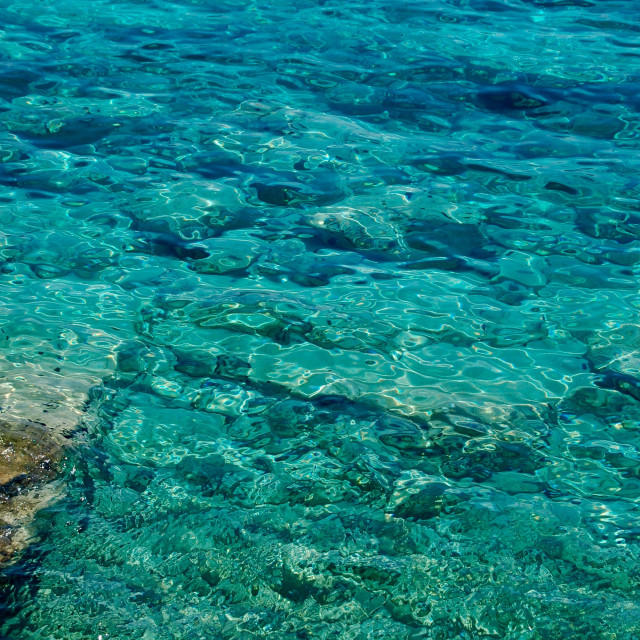 """""""Stunning turquoise waters of the Mediterranean Sea, Greece"""" stock image"""