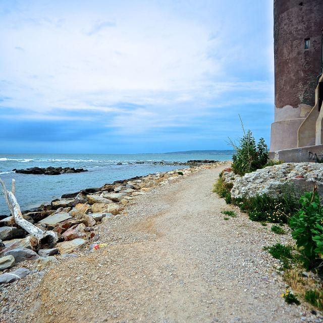 """Panorama sul mare"" stock image"