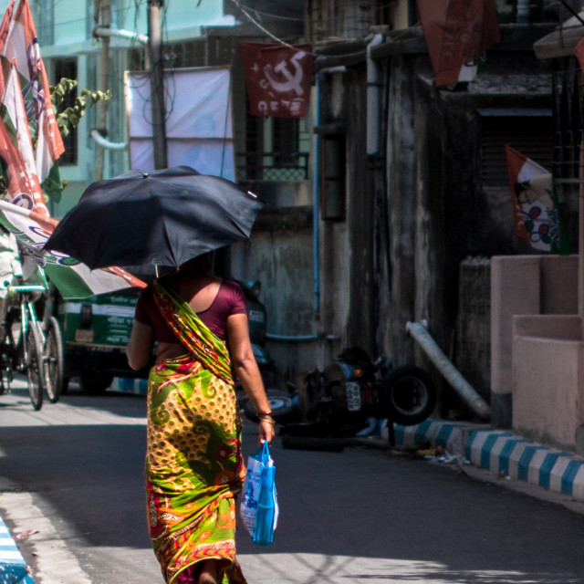 """A walk in Kolkata"" stock image"