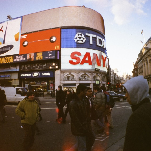 """""""piccadilly square"""" stock image"""