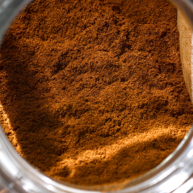 """Jar of chilli powder"" stock image"