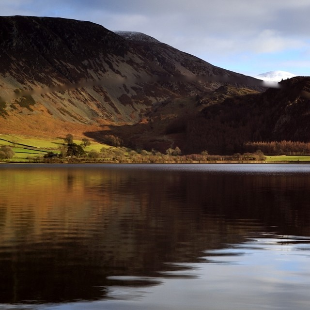 """Ennerdale Water Reflections"" stock image"