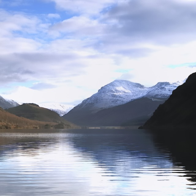 """Reflections on Ennerdale Water"" stock image"