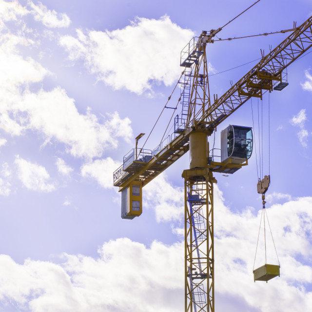 """Crane and sky"" stock image"