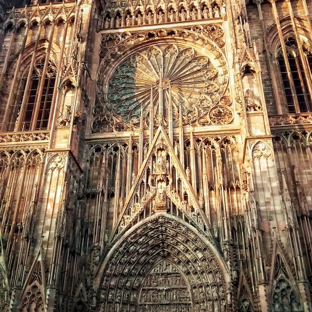 """""""Strasbourg Notre-Dame"""" stock image"""