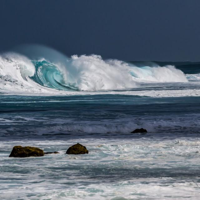 """Ocean Wave Hawaii"" stock image"