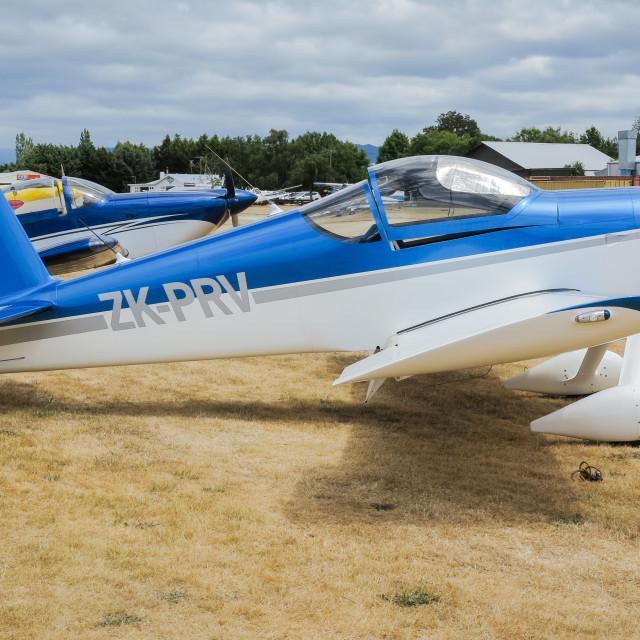 """""""Vans RV-6 aircraft"""" stock image"""