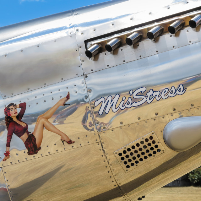 """""""T51 nose art"""" stock image"""