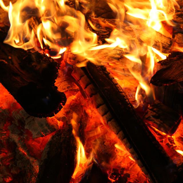 """campfire"" stock image"