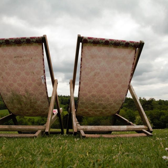 """Deckchairs"" stock image"