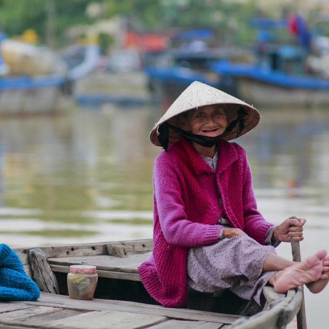 """""""Hoi An- Old lady"""" stock image"""